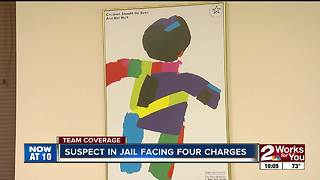 Suspect in jail facing four charges