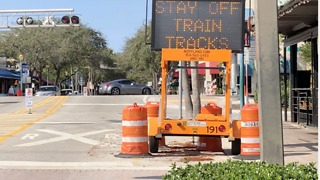 Brightline signs going up - Video