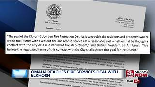 Omaha Reaches Fire Services Deal with Elkhorn - Video