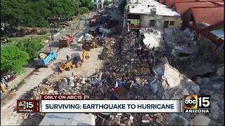 Man survives deadly Mexico earthquake, family not bracing for Hurricane Irma - Video