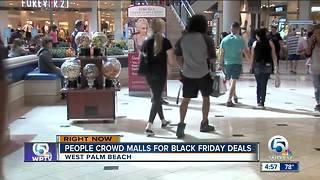 Black Friday deals pack shopping malls - Video