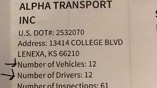 Report shows high volume of violations for trucking company involved in I-435 crash - Video