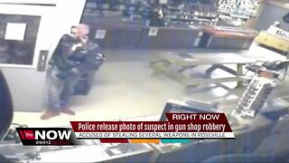 Police searching for metro Detroit gun store robbery suspect - Video