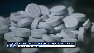 Milwaukee County Medical Examiner responds to 5 suspected overdose deaths Saturday - Video