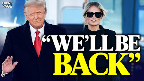 """Trump departs: """"We'll see each other again""""; New Order to prevent officials from having final say"""