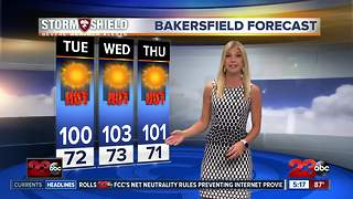 Triple digit heat returns on Tuesday - Video