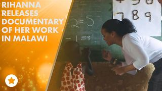 Watch Rihanna teach kids math in Malawi! - Video