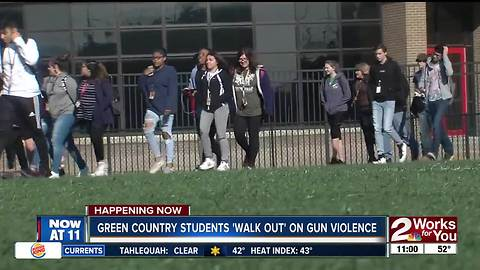 Green Country students 'walk out' on gun violence