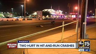 Police searching for driver in multiple hit-and-run crashes in Phoenix - Video