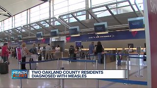 2 measles cases confirmed in Oakland County, detected at Detroit Metro Airport