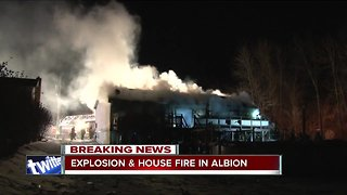 Elderly couple injured in possible house explosion in Albion