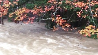 Saco River Overflowing in New Hampshire - Video