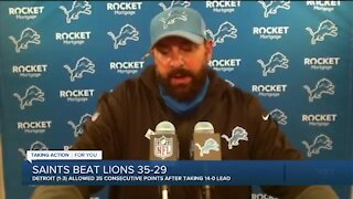 Matt Patricia answers for defensive struggles after Lions fall to 1-3