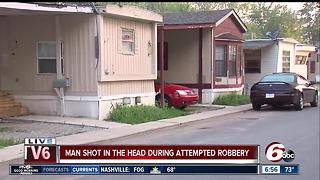 Man shot in head during Lawrence attempted robbery - Video