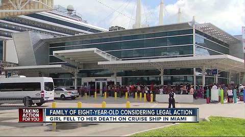 Girl, 8, dies after falling on cruise ship