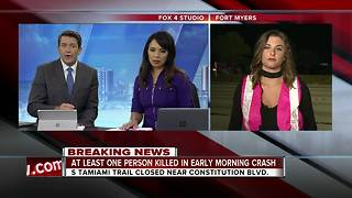 At least one person killed in early morning crash - Video