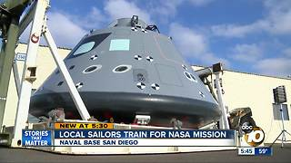 San Diego sailors train for NASA mission - Video