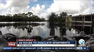Flooded streets keep families from homes - Video