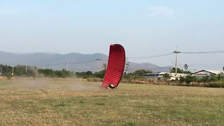 Powered paragliding fail compilation - Video