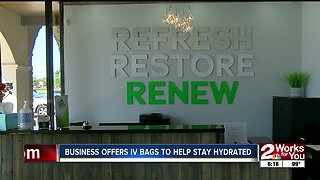 Business offers IV bags to help stay hydrated