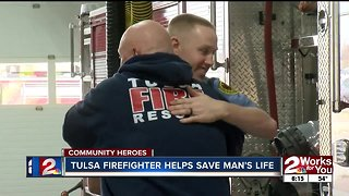 Community Heroes: Off-duty Tulsa firefighter helps save man's life