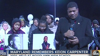 Maryland remembers Keion Carpenter at vigil - Video