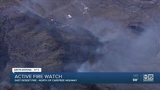 FD: 700+ acre brush fire burning north of Cave Creek Regional Park
