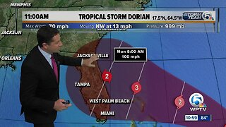 Wednesday 11 a.m. Update: Dorian could become Category 3 hurricane