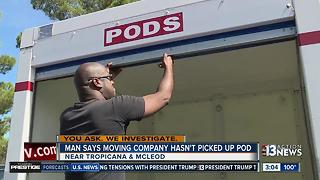 Man frustrated after moving container not removed - Video