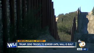 Trump says military will guard border until wall built - Video