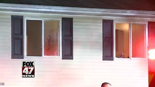 Fire damages house, students living there displaced - Video
