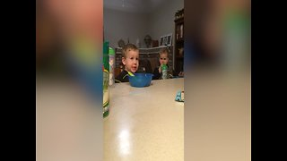 Cute Brothers Are Worried About Monsters - Video