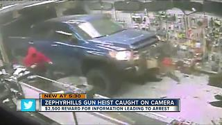 Daring gun heist caught on video