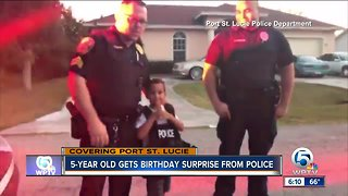 5-year-old gets birthday surprise from Port St. Lucie police