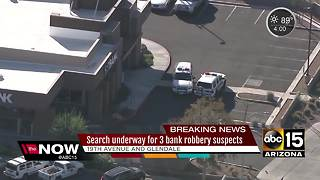 Search on for three bank robbers in Phoenix - Video