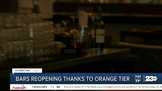 Bars reopening thanks to orange tier