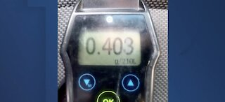 NHP shares breathalyzer 5x legal limit in suspected DUI arrest