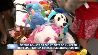 Two sisters donate their birthday gifts to kids in need - Video