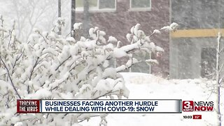 Snow causing additional concern for businesses