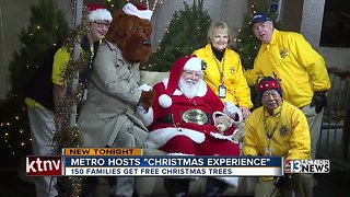 Families receive free Christmas trees