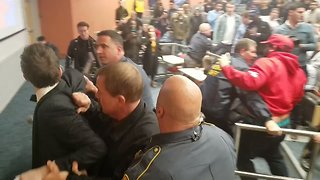 Conservative Speaker Arrested Following Altercation With Demonstrators at UConn - Video