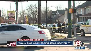 Woman dies after being shot, pushed out of car - Video