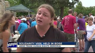 Boise holds vigil and solidarity rally for Charlottesville - Video