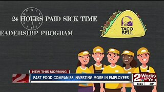Fast food companies investing more in employees