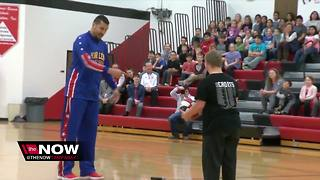 West Point High School senior makes trick shot - Video