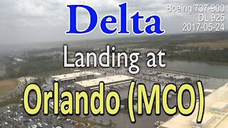 Delta flight landing at MCO (Orlando International Airport) in 737-900