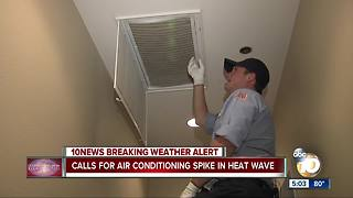 San Diego AC technicians see high call volume during heat wave