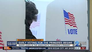 Maryland primary elections' early voting runs June 14 through June 21 - Video