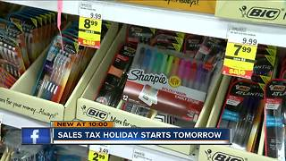 Unusual items included in Wisconsin sales tax holiday - Video