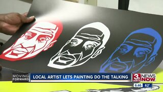 Local artist lets painting do the talking
